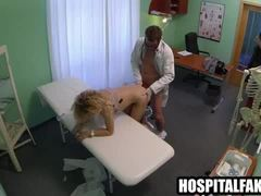Amateur blonde patient getting fucked by a fast surgery deal with the doctor 72